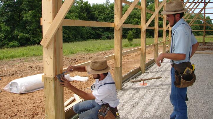 contractors during perma column installation