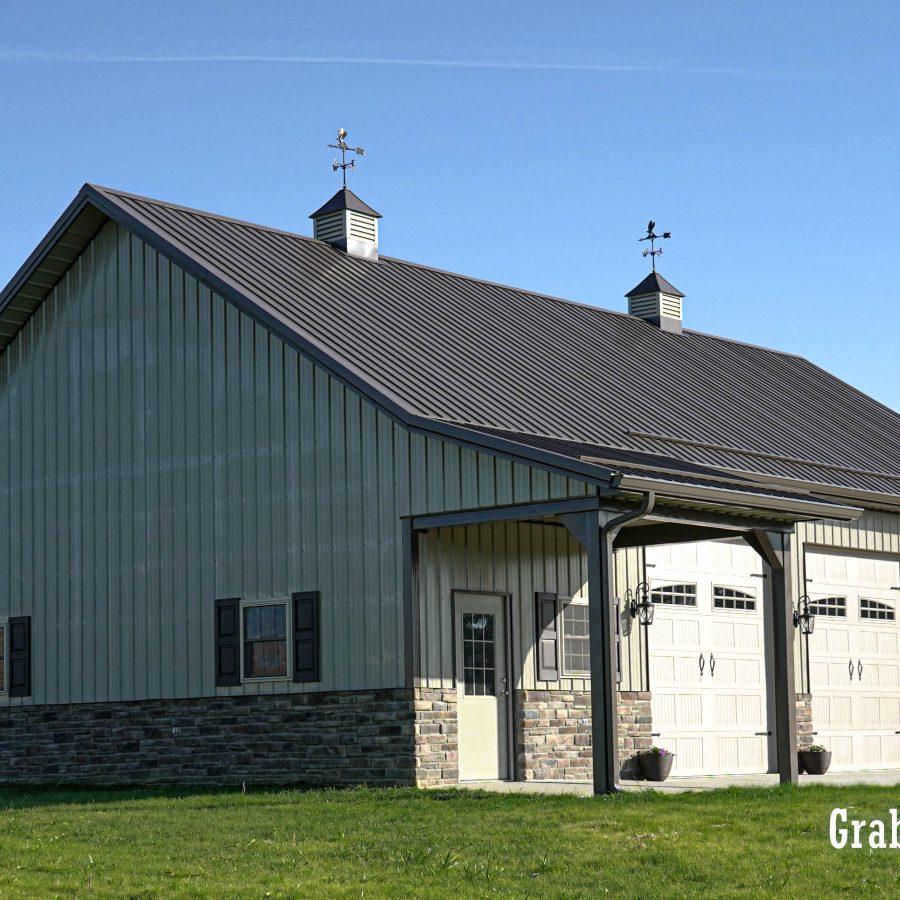 detached Amish pole garage