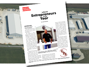 graber post building mentioned in magazine as entrepreneur of the year