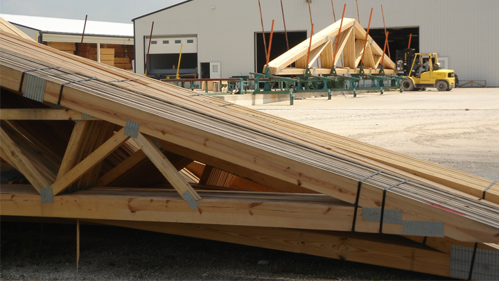 wooden engineered trusses