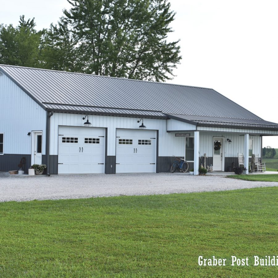 detached post frame building in indiana