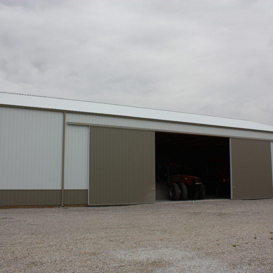detached post frame building