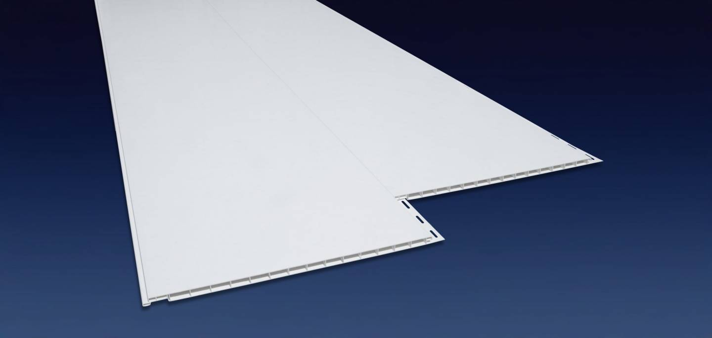 product highlights and close up of Duraclad PVC interlocking panel