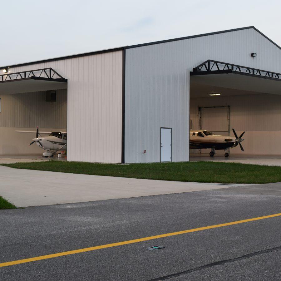 airport pole building installation in illinois