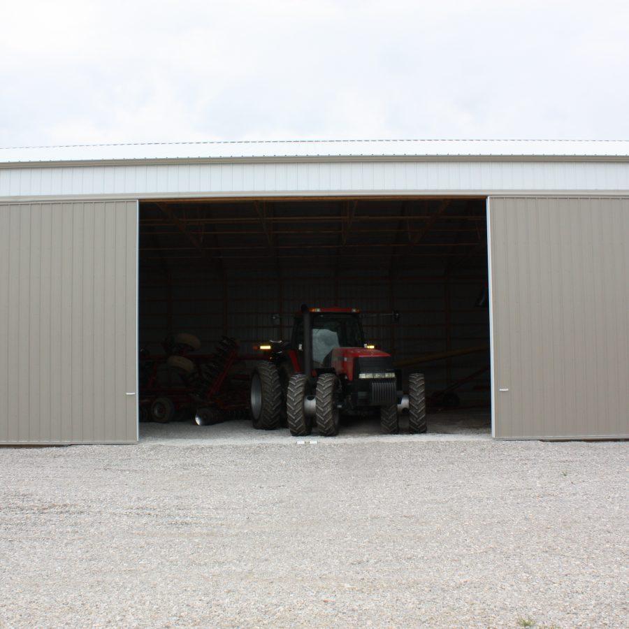 metal sided sliding barn doors