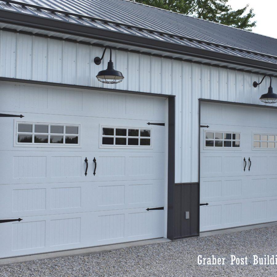 two car pole garage
