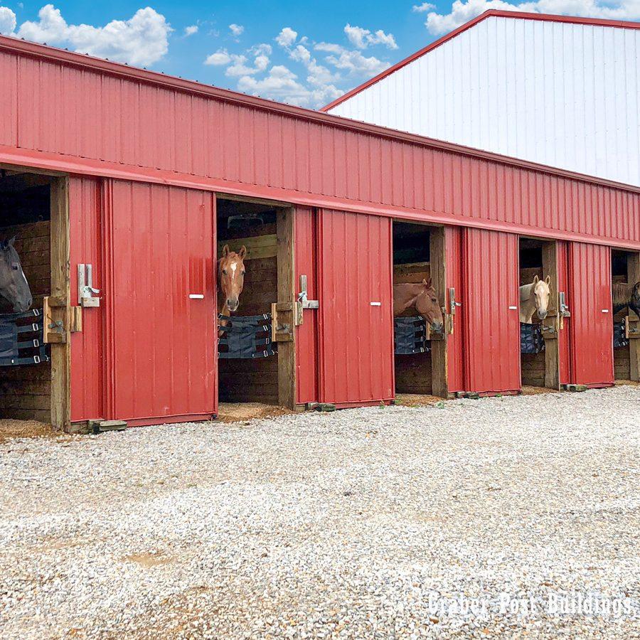 metal horse barn