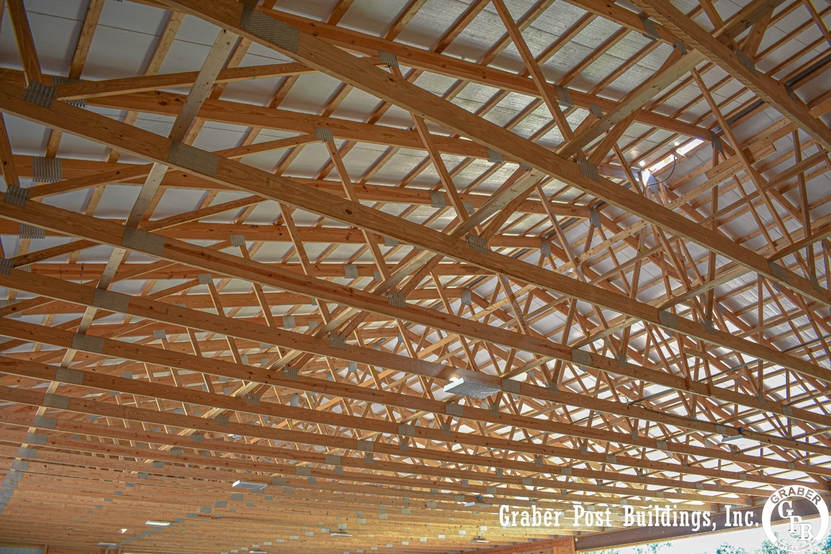 engineered wooden roof trusses for barn