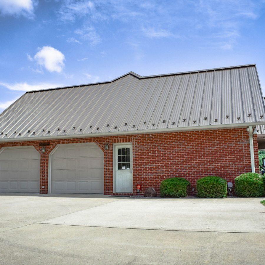 tan metal roof