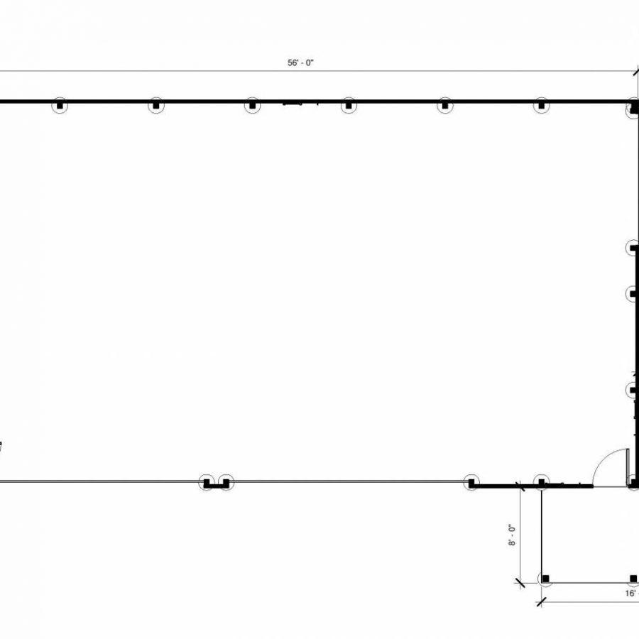 large post frame building layout
