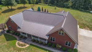 new metal roof on residential home