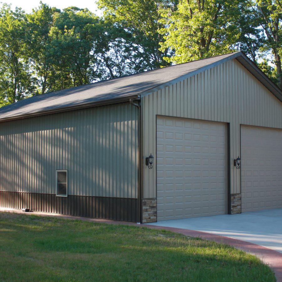 residential metal garage siding