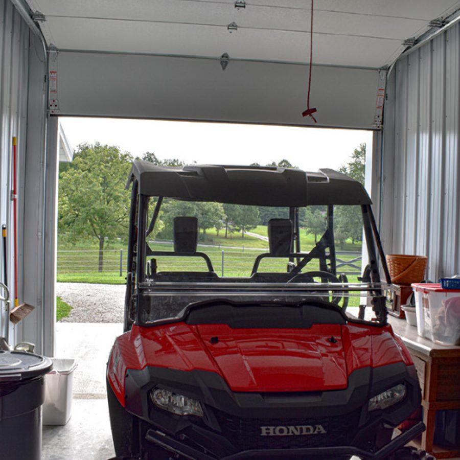 post frame garage bay