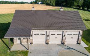 new g rib panel on pole barn garage