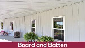 board and batten metal siding