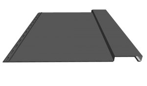 metal gray board and batten siding panel