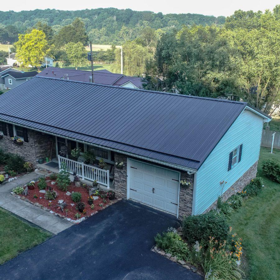 gray metal roof
