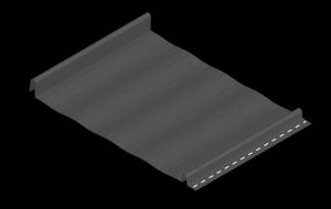 styrated standing seam metal panel