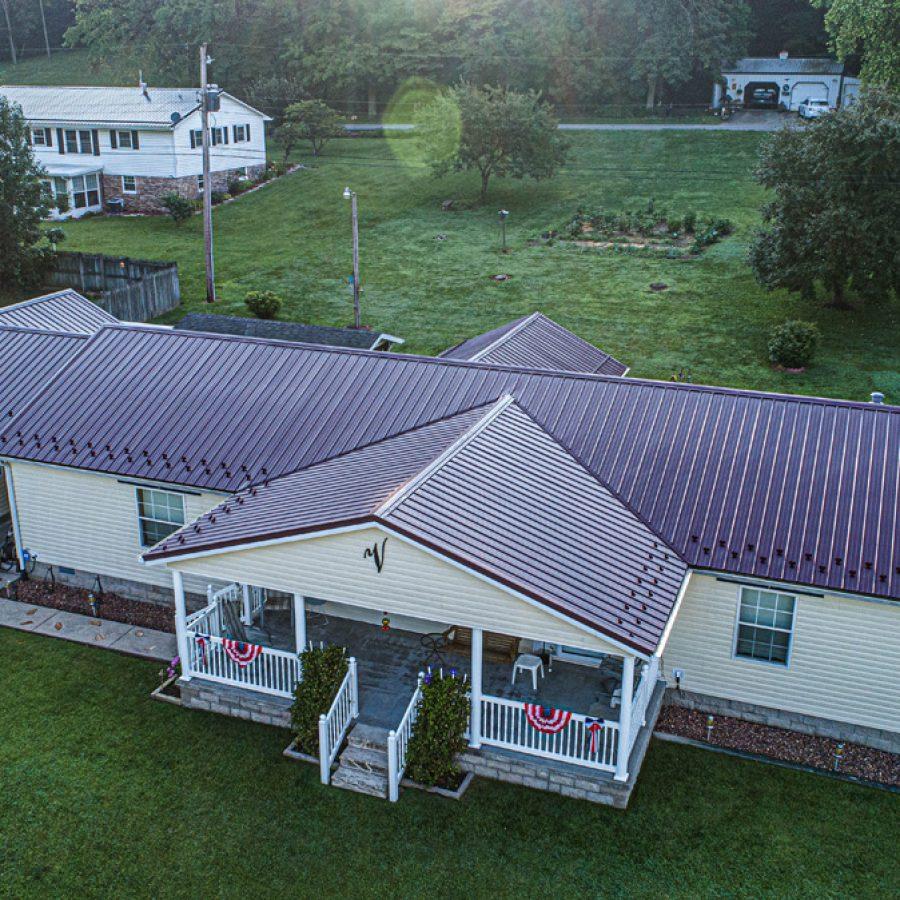 garage metal roof installation