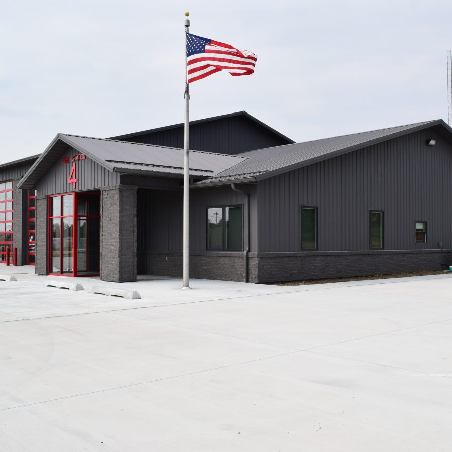 dark brown metal siding and roofing