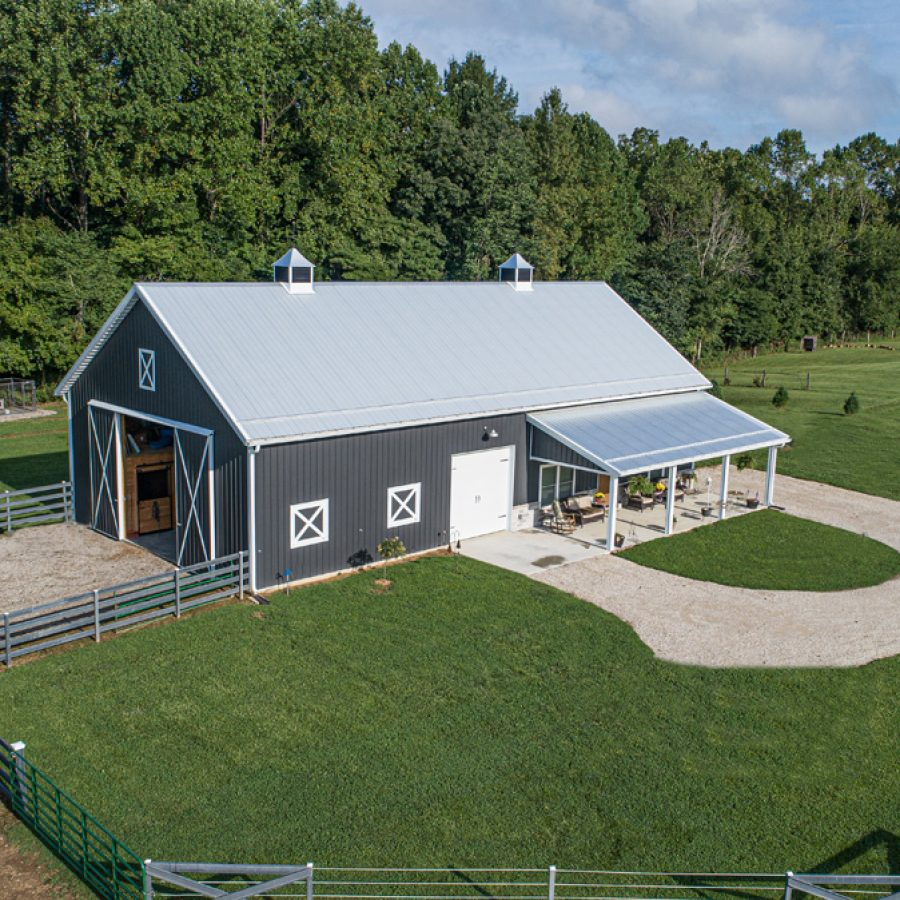 new pole barn construction project