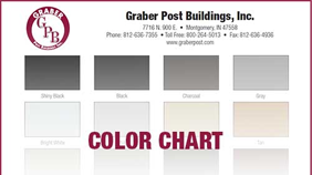 metal roofing and siding color chart for pole barns