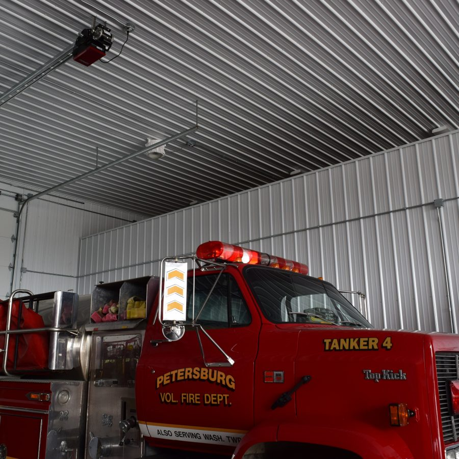 tan metal roofing and siding on fire station