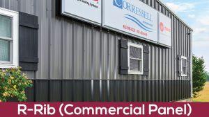 r rib commercial panel metal siding