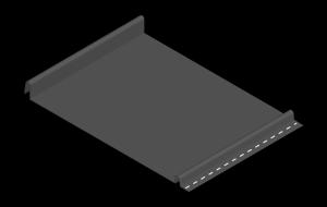 dark gray standing seam snap lock panel