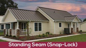 standing seam snap lock metal roof