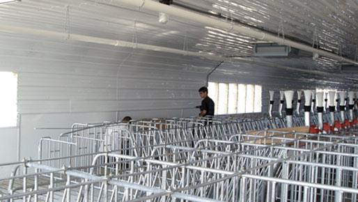 ag-tuf uv pvc liner panel in a barn