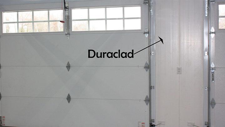 duraclad pvc multiwall panel on barn door