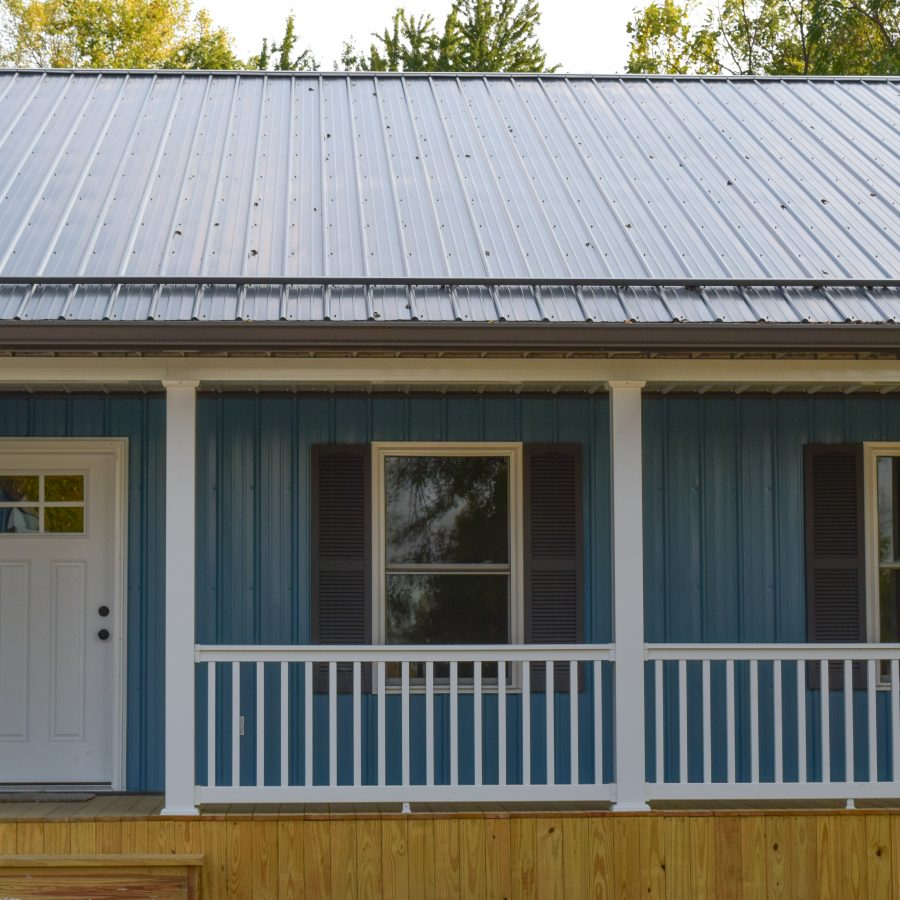 metal roofing and siding on custom home