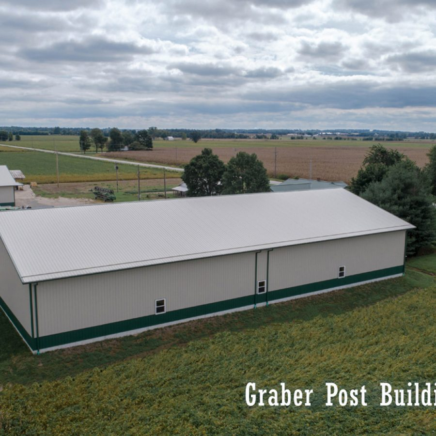 overhead view of new pole building