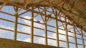 sunsky polycarbonate panels on pole barn