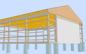 3d design of new pole building