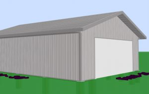 new metal sided commercial pole building