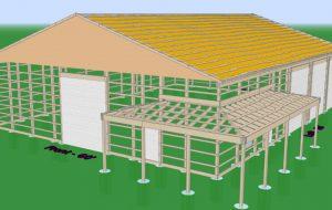 pole barn foundation of a 3d design