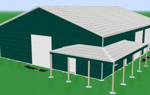 3d design of pole building in indiana
